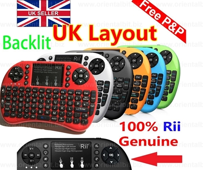 Picture of 2015 RII i8+ Backlit 2.4G UK Layout Wireless Keyboard Touchpad 'Genuine'