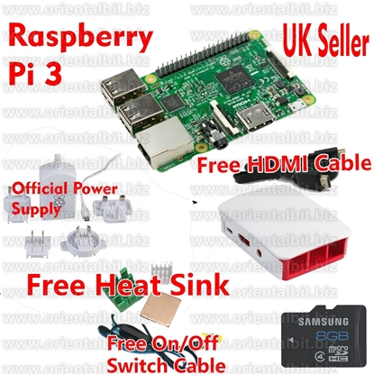 Picture of RASPBERRY PI 3 16GB Starter/Media Centre Kit (2016 Model)