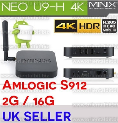 Picture of Minix Neo U9-H (U9H) 4K HDR Android TV Box With the AMLogic Octa Core S912 (64-bit) CPU
