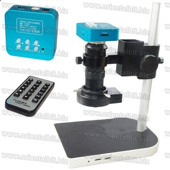 Picture of 16MP 1080P 60FPS HDMI USB Industrial Microscope Camera+ 100X ZOOM C-mount Lens K