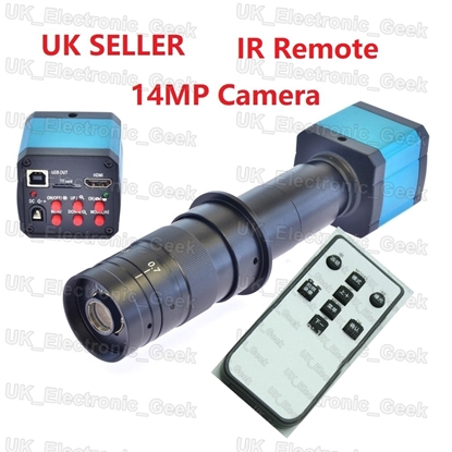 Picture of 16MP TV HDMI USB Industry Digital C-mount Microscope Camera+180x Lens+IR Remote