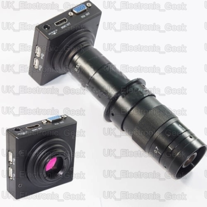 Picture of UK 16MP 1080P 60fps HDMI C-mount Industrial Microscope Digital Camera Video Recoder