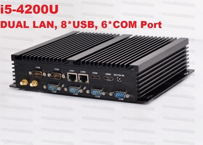 Picture of Dual LAN 6 * RS232 COM Port Industrial Fanless Mini PC Intel Core i5 4200U Mini PC