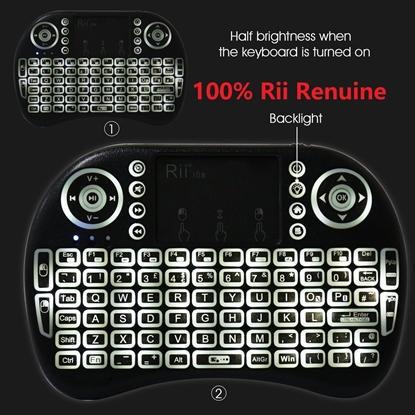 Picture of Rii i8s+ KODI XBMC 2.4Ghz RF Mini Wireless Keyboard LED Backlit Touchpad Mouse