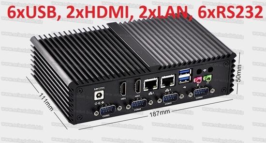 Picture of Mini PC Intel core i5, fanless, 6 RS232, 6 USB, 2 HDMI, 2 LAN