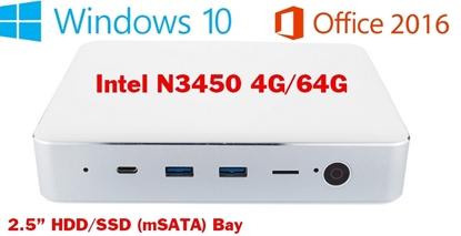 Picture of Intel N3450 4GB + 64GB Windows 10 Dual WiFi 4K HD Bluetooth 4.0 MINI PC TV Box VGA