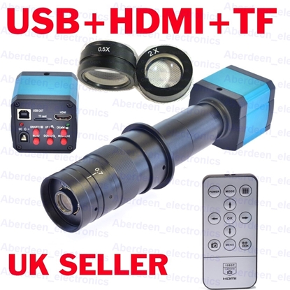 Picture of 16MP TV HDMI USB Industry Digital C-mount Microscope Camera+180x Lens, barlows