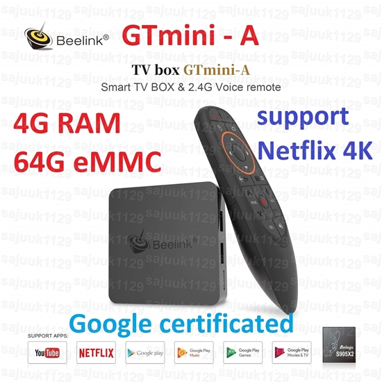 Picture of Beelink GTmini-A Amlogic S905X2 Android TV 8.1 4GB DDR4 64GB eMMC 4K TV Box