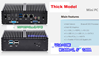 Picture of RS232, 6xUSB, 2xLAN Celeron Industrial Fanless Mini PC
