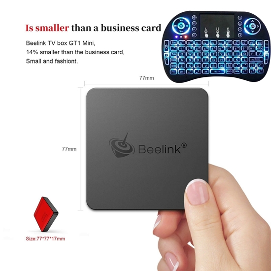 Picture of Beelink GT1 MINI TV Box With Voice Remote Amlogic S-905 X2 4GB+32G Black, i8
