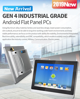 Picture of Industrial grade touch panel pc Aluminum alloy IP66 front bezel all in one computer x86 Android