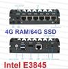 Picture of Fanless Mini PC 6*LAN Port Intel E3845 Mini Desktop Computer 4G RAM 64G SSD