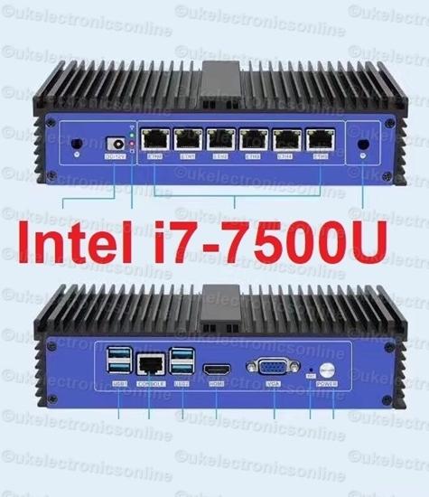 Picture of Intel 7500U 6 LAN Firewall Fanless 4G/128G mini pc VPN