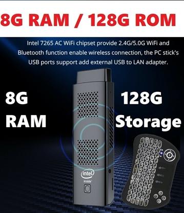 Picture of Mini PC Stick Windows 10 Pro, 8GB DDR/ 128GB eMMC Intel N4100, office
