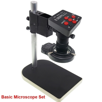 Picture of 48MP HDMI HD PCB Microscope Set USB Industry Camera Stand Ring Lamp